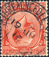 "GB - KGV - 1916 "" THREADNEEDLE ST. "" DS on SG357 1d scarlet"