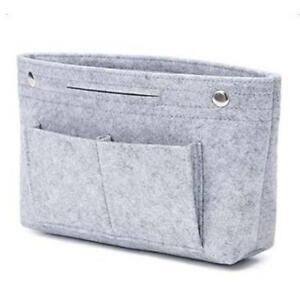Women's Handbag Organizer Bag Purse Insert Bag Felt Multi Pocket Tote Useful Bag