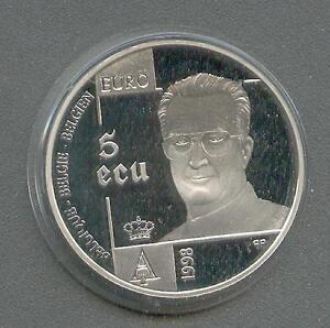 5 ECU  Belgien  Menschenrechte  Silber  1998