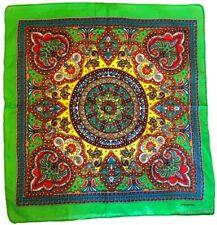 Green Paisley Bandana Scarf Headscarf Neckerchief Hankie Cotton Pocket Square