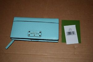 KATE SPADE STACY BAY STREET BIFOLD WALLET, ATOLL BLUE (TURQUOISE)