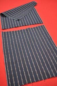 Vintage Japanese Fabric Cotton Antique Boro Indigo Blue SHIMA 2 Sheets/BT55/70