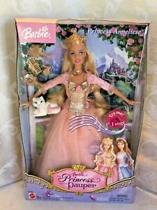 Barbie Doll The Princess and The Pauper with Singing Anneliese Cat 2004 NRFB