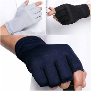 Summer Fingerless Driving Male Gloves Thin Sunscreen Solid Color Wrist Gloves