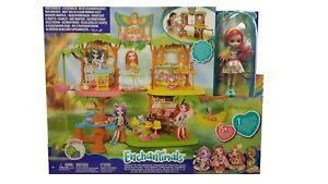 Mattel Enchantimals GFN59 Dschungelwald Café Puppenhaus Spielset mit Zubehör Neu