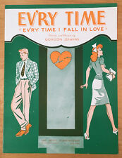 1942 Sheet Music Ev'ry Time I Fall In Love by Gordon Jenkins