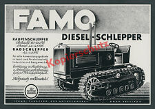 Reklame FAMO Raupenschlepper Rübezahl Traktor Agrar Landmaschinen Breslau 1939