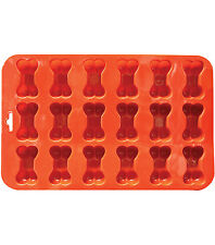 Mini Bone Silicone Baking Pan flexible Mold Ice Tray Dog Puppy Treat Cookie Pet