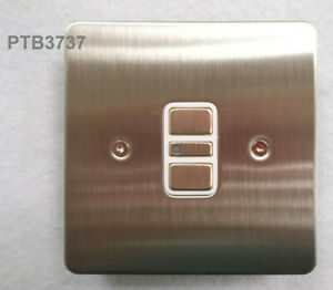 1 GANG 2 WAY 300W/VA UNIVERSAL ELECTRONIC DIMMER STAINLESS STEEL PLEASE READ!!!