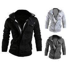 Neuf Hommes Slim Sweat Veste Capuche Jacket Coat Blouson Manteau Hoodie Hooded