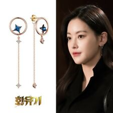 "miniGOLD ""Hwaugi"" Korea Drama Oh Yeonseo's Ohvely Stella Earrings ELKS4037-3 14K"