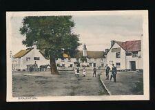 Devon BRAUNTON Village scene Red Lion Inn & locals used 1909 PPC by Peacock