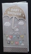 """GREETINGS CARD - """"ON YOUR BABY SHOWER FOR THE MUMMY TO BE"""" - UMBRELLA"""