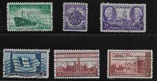US Scott #939-44, Singles 1946 Complete FVF Used