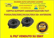 COPPIA SUPPORTI AMMORTIZZATORI FIAT PANDA/500/500C/MUSA/IDEA 03> ANTERIORE SX/DX