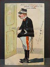 LUIGI CADORNA Caricatura Esercito SATIRA Primi '900 (1905-1910) Gaeta Viaggiata