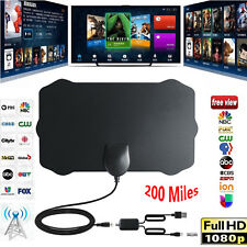 200 MILES DIGITAL ANTENNA TV HDTV LONG RANGE HQ HDTV INDOOR ANTENA Freeview HD