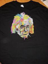 Albert Einstein Bioworld Multi-Color Stitched Portrait Shirt Xl