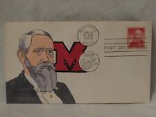 vintage 1/1 cache art signed 1959 FDC envelope First Day Benjamin Harrison