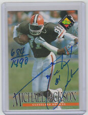 MICHAEL JACKSON Browns SIGNED 1994 Pro Line Live Autograph ON CARD AUTO #/1490