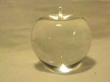 """engraved TIFFANY & CO. Glass Apple paperweight solid crystal """"Motorola Schweber."""