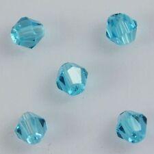 100pcs Swaro/vski 4mm Bicone Crystal beads A Sky-blue