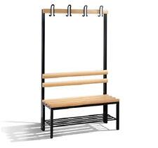 Einseitige Umkleidebank Sitzbänke Garderobenbank 1650x1000x403mm mit Schuhrost