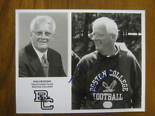 DAN  HENNING (Boston  College  Eagles) Signed 8 x 10 Glossy Black & White  Photo