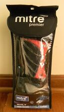 "MITRE RECOIL IP SOCCER SHIN GUARD SIZE LARGE 5'3"" - 5'11"" RED & BLACK"