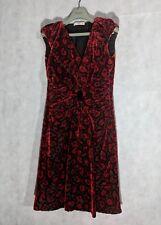 Prada AW09 Red Floral Velvet Dress Size 40 $3k Anna Wintour