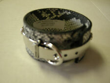 Harley-Davidson Cuff/Bracelet, Ladies, Silver & Black Leather With Buckle,