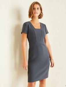 New Ann Taylor Winter Navy Square Neck Short Sleeve Sheath Dress Plus Sz 18