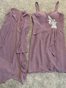 AW Bridal Mother Of The Bride Dress Purple size 14