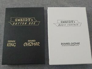 STEPHEN KING RICHARD CHIZMAR GWENDY'S BUTTON BOX & MAGIC FEATHER LIMITED SIGNED