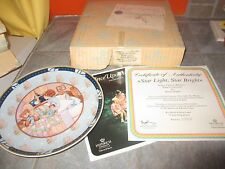 VILLEROY BOCH Heinrich STAR LIGHT STAR BRIGHT ONCE UPON RHYME Plate w COA &BOX b