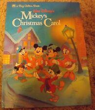 Walt Disney's Mickey's Christmas Carol by Ron Dias (1990) a Big Golden Book