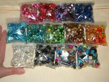 NEW 13/Pk 4/oz Sample (3.25lb) MIX LOOSE BEADS Multi-Color LOT GLASS & Gemstone
