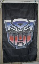 AutoBots Transformers 3'x5' Vertical Flag Banner Black Optimus Prime USA Seller