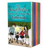 Enid Blyton Wishing Chair& Magic Faraway Tree Series 6 Books NEW Collection Set