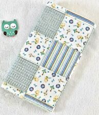 Handcrafted, Patchwork Print & Yellow Bubble Minky Bubble, Baby Burp Cloth