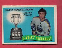 1971-72 OPC  # 246 SABRES GILBERT PERREAULT CALDER TROPHY  CARD