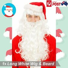 1x Santa Long Wig Beard Xmas Father Christmas Fancy Dress Costume Accessory Set
