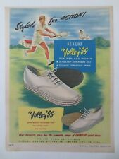 Vintage Australian advertising 1950 ad DUNLOP SPORTS SHOES volley ss tennis art