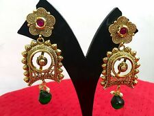 New Ethnic Indian Bollywood Style Gold Tone Jewelry Necklace Earrings Set