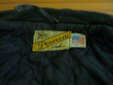 Superb Schott Vintage Leather Motorcycle Jacket Size 52