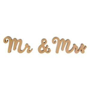 Sass & Belle - Mr & Mrs Gold Standing Letters