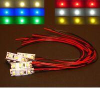 S947 - Sortiment 12 Stück Mini LED Hausbeleuchtung mit Kabel 8-16V Set 6 Farben