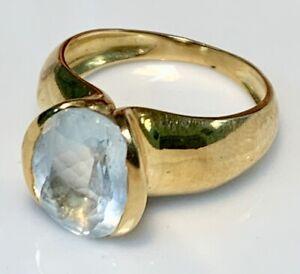 Magnificent Ring Gold 18 Carat - Aquamarine - 3.54 G