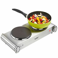 VonShef Hot Plate Electric Cooker Hob 2500W Cookertop Stainless Steel Portable