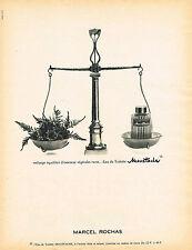 PUBLICITE ADVERTISING 104  1966  MARCEL ROCHAS eau de toilette MOUSTACHE